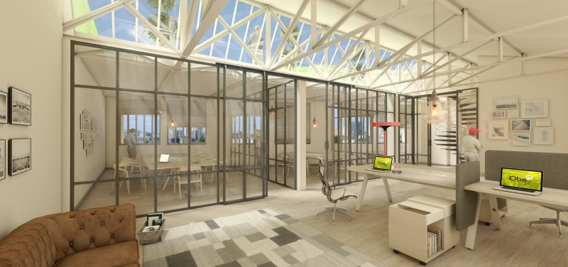 Visualisations of offices for a Start-up farm