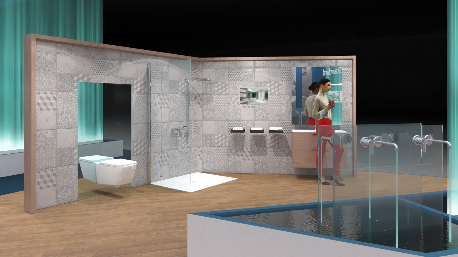 Creative proposal for a sanitary equipment fair booth
